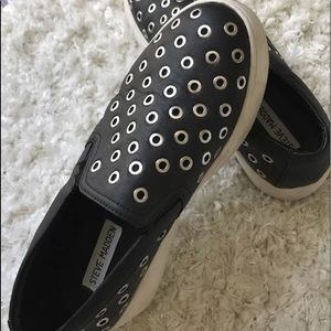 Steve Madden leather sneakers black size 8
